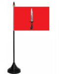 Infantry Corps Desk / Table Flag with plastic stand and base.